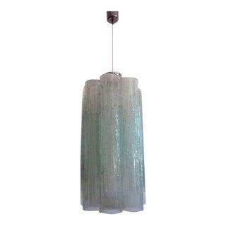 Italian Mid-Century Modern Venetian / Murano Glass Columnar Chandelier by Venini