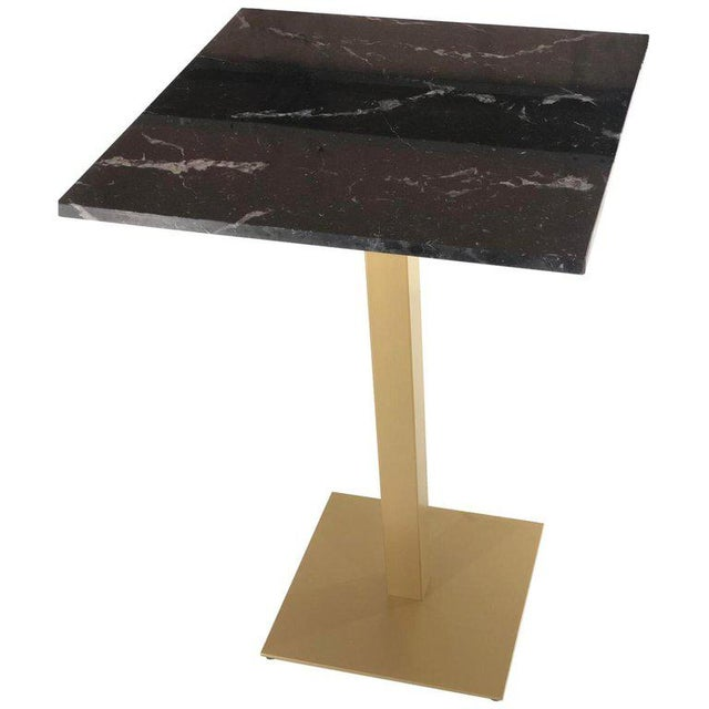 Metal New Bistro High Table in Gilded Wrought Iron With Black Marble Top For Sale - Image 7 of 7