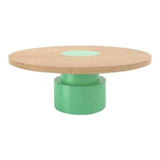 Contemporary 100C Coffee Table in Oak and Mint by Orphan Work, 2020 For Sale