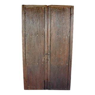 Pair of 19th Century Antique Wooden Doors For Sale