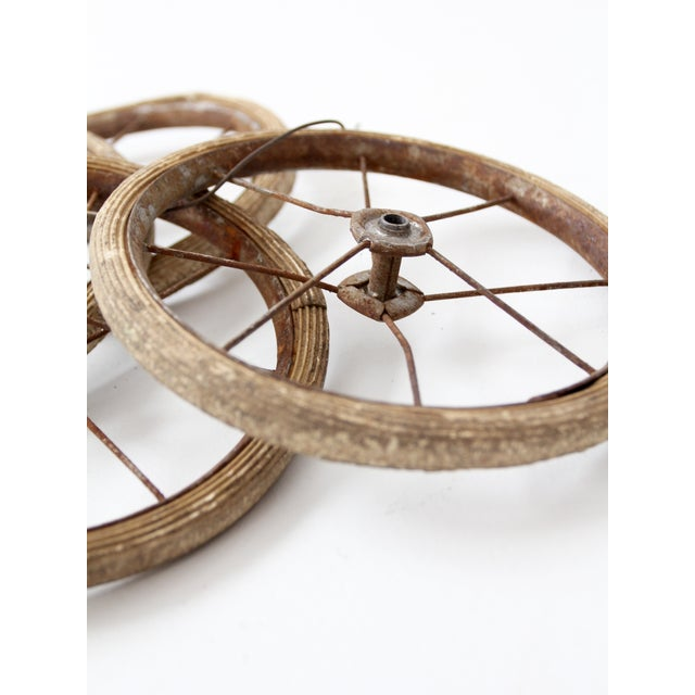 Vintage Doll Carriage Wheels - Set of 4 For Sale - Image 6 of 7