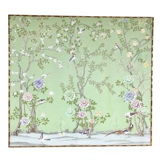 Framed Chinoiserie Wallpaper Panel
