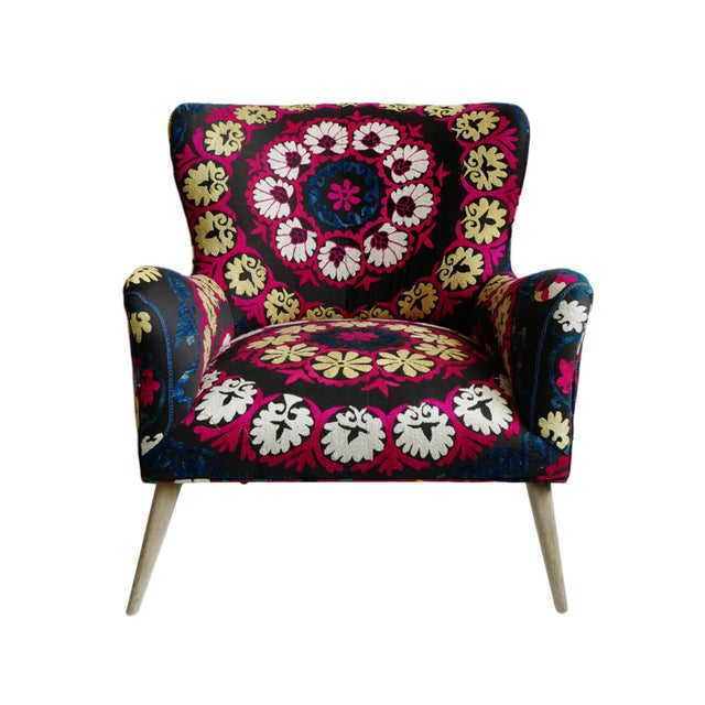 Zena Suzani Arm Chair For Sale - Image 9 of 9