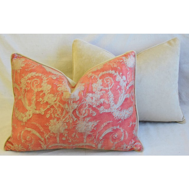 """Italian Fortuny Festoni Feather/Down Pillows 24"""" X 18"""" - Pair For Sale - Image 11 of 13"""