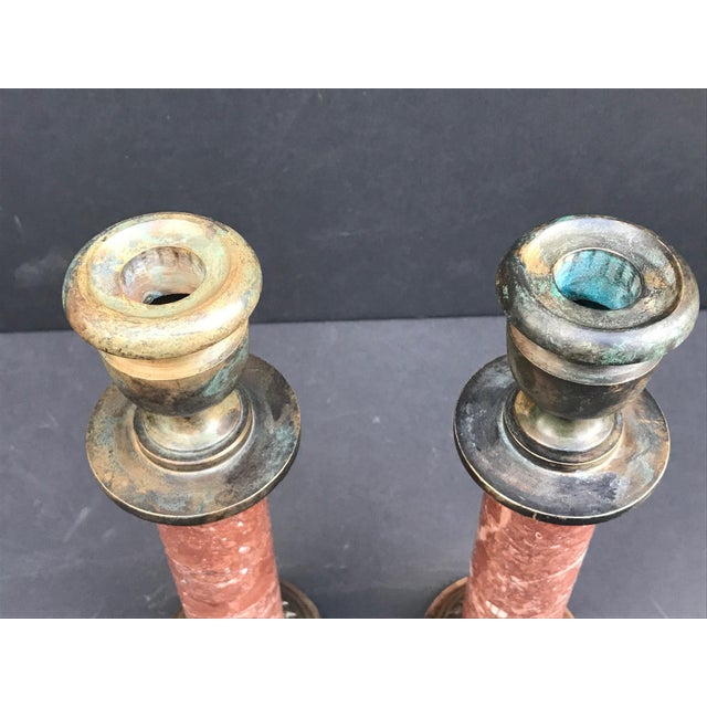 Antique 19th Century Grand Tour French Neoclassical Candlesticks - a Pair For Sale - Image 4 of 8