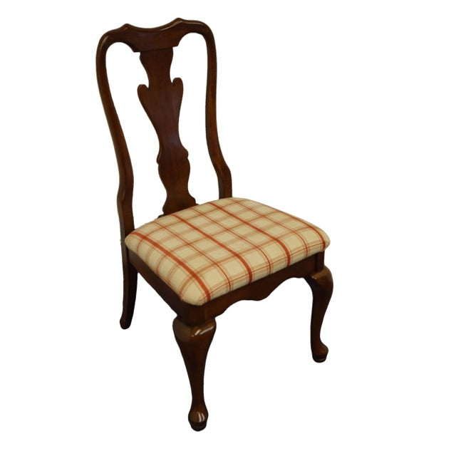 Keller Furniture Solid Cherry Traditional Queen Anne Style Side Chair For Sale - Image 12 of 12