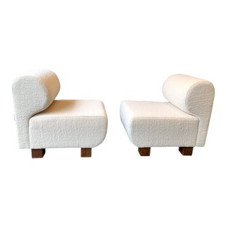 1970s Vintage Slipper Chairs P. Italy - a Pair For Sale