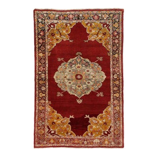 Vintage Turkish Oushak Rug with Modern Traditional Style For Sale