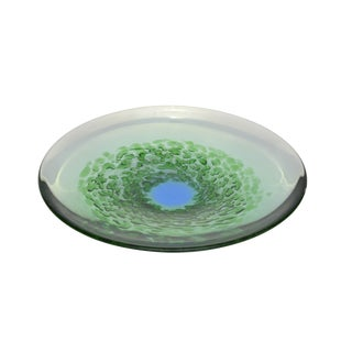Murano Glass Plate in Green and Blue For Sale