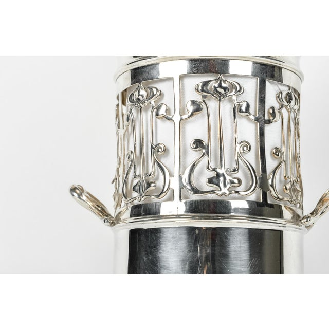 English Traditional Antique English Plated Wine / Drinks Bottle Holder For Sale - Image 3 of 6