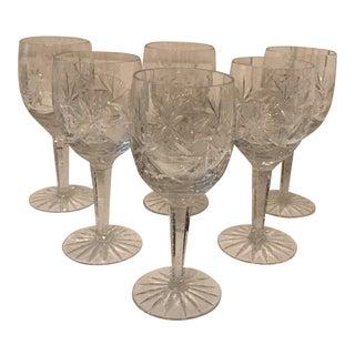 Crystal Wine Glasses - Set of 6 For Sale