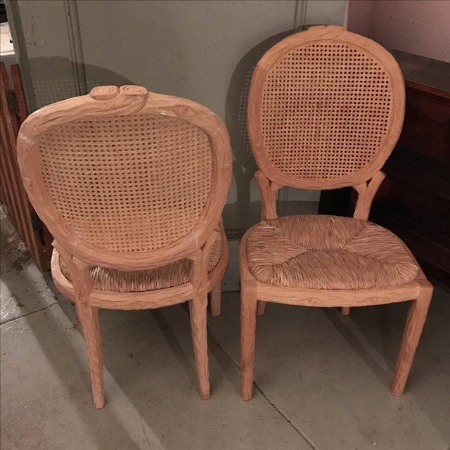 Faux Bois Dining Chairs - Pair For Sale - Image 5 of 10