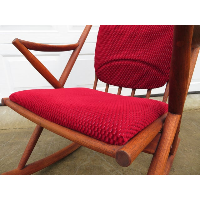 Bramin Møbler Mid Century Modern Teak Rocker Lounge Chair For Sale - Image 4 of 13