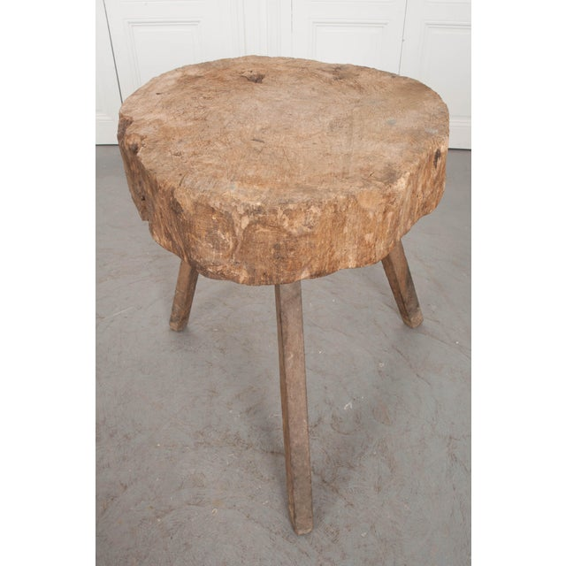 """Mid 19th Century Mid 19th Century French 19th Century Provincial """"Tree Trunk"""" Chopping Block For Sale - Image 5 of 13"""