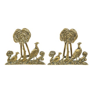 1970s Hollywood Regency Brass Door Knockers - a Pair For Sale