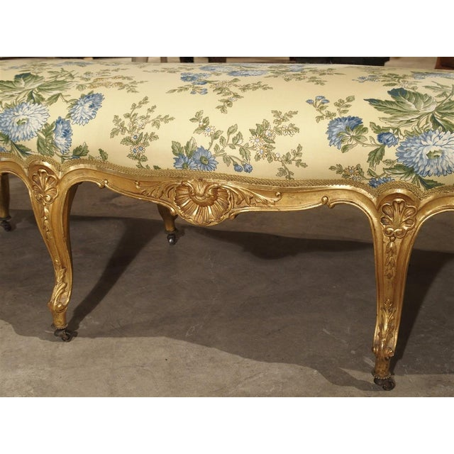 Antique Giltwood Regence Style Banquette From France, 19th Century For Sale In Dallas - Image 6 of 13