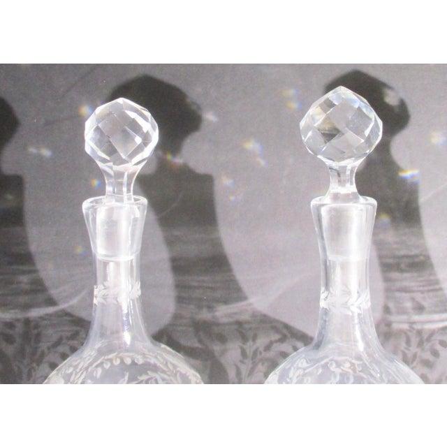Glass Antique Cut Glass Liqueur Decanters - Set of 3 For Sale - Image 7 of 8