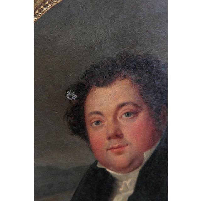 Early 19th Century French Oil on Canvas of a Man Dressed in Black For Sale In Dallas - Image 6 of 13