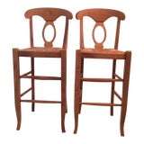 Image of Modern Pottery Barn Barstool Chairs- A Pair For Sale