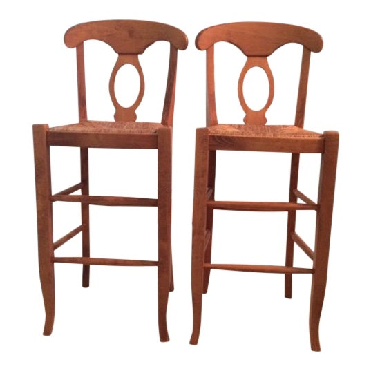 Modern Pottery Barn Barstool Chairs- A Pair For Sale