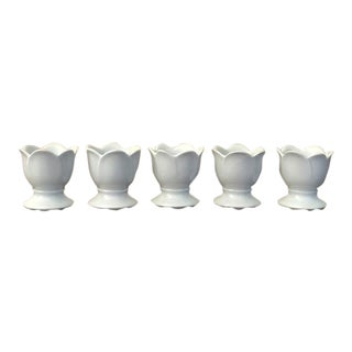 1960s French Country Limoges Egg Cups - Set of 5