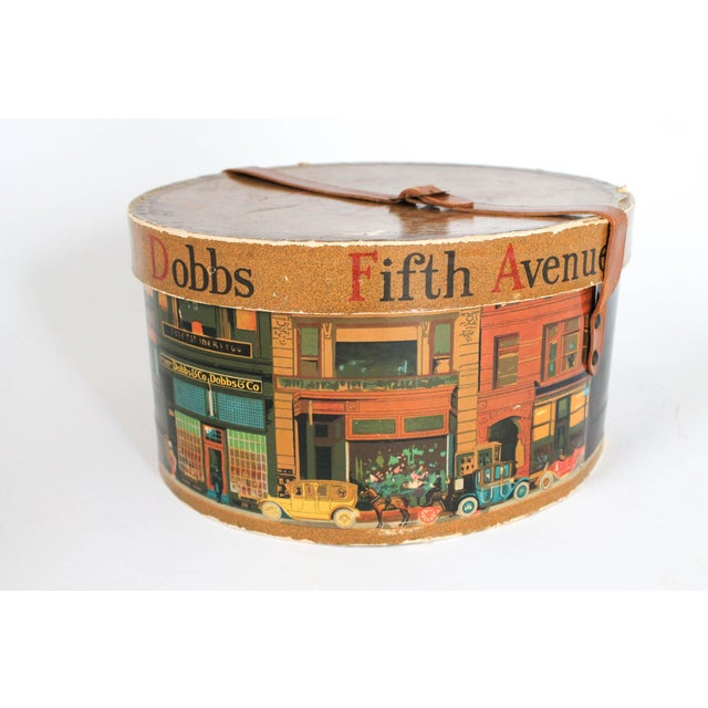 Blue Dobbs Fifth Avenue New York Hat Box For Sale - Image 8 of 8