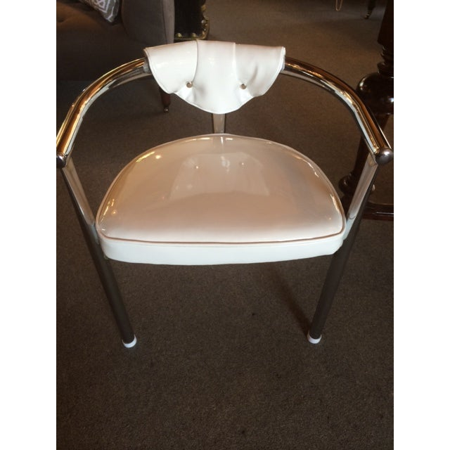 Mid-Century Modern Mid-Century Chrome & Patent Leather Chairs - S/4 For Sale - Image 3 of 5