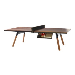 RS Barcelona You and Me Indoor Ping Pong Table, Walnut and Black For Sale