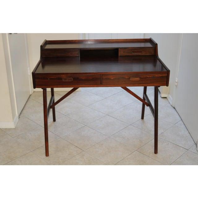 Vintage Arne Wahl Iversen Model 64 Rosewood Vinde Mobelfabrik Desk For Sale - Image 13 of 13