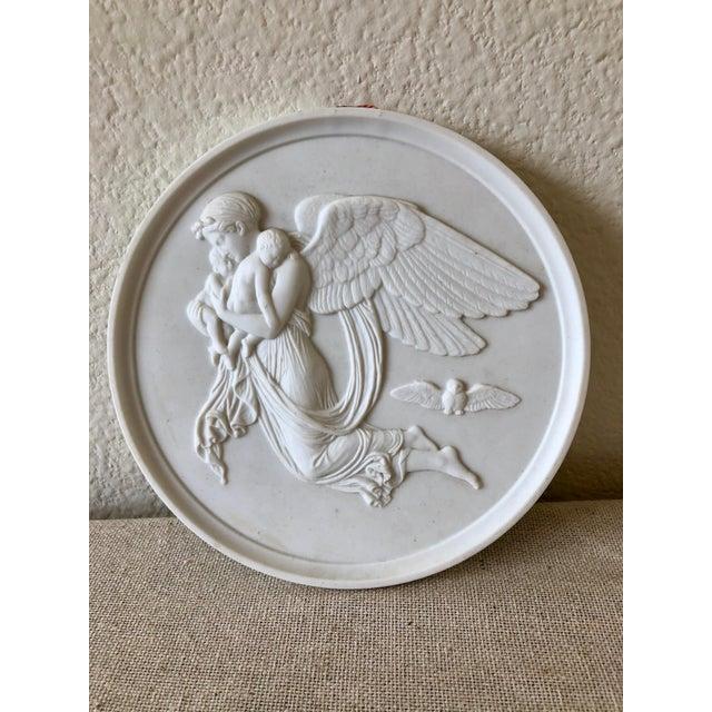 1960s Vintage Bing & Grøndahl Porcelain Angel Wall Plaques - a Pair For Sale - Image 5 of 9