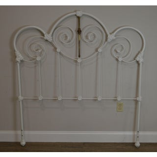 Victorian Style White Painted Iron Full Size Headboard Preview