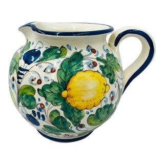 Vintage Italian Pitcher Vase For Sale