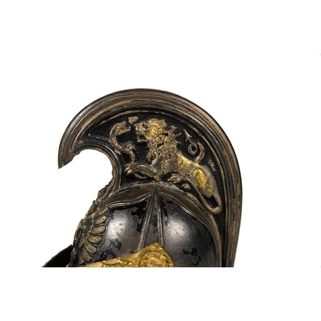 Antique French Bronze Cuirassier Helmet Ink Well - Image 8 of 9