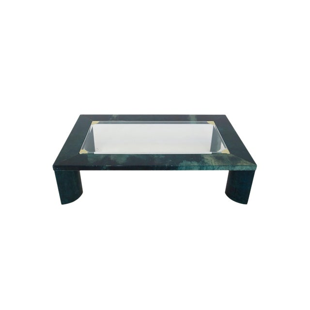 Green Aldo Tura Living Room Coffee Table From 1960 For Sale