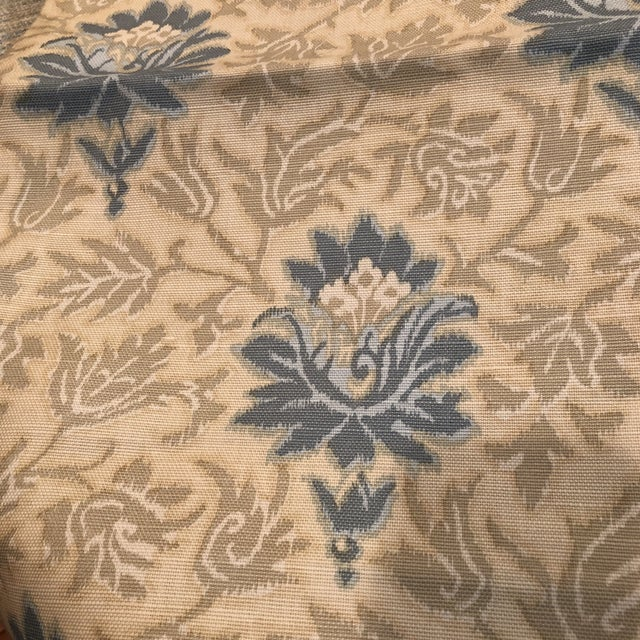 Caspian Hand Printed Small Floral Fabric For Sale - Image 5 of 5