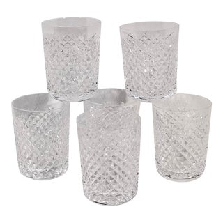 "Vintage Waterford ""Alana"" Crystal Juice Tumblers - Set of 6 For Sale"