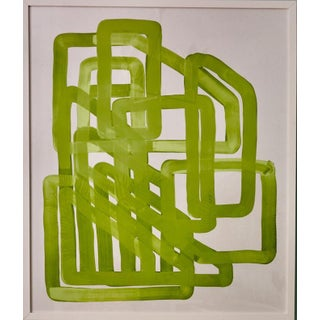 Green/White Abstract Art For Sale