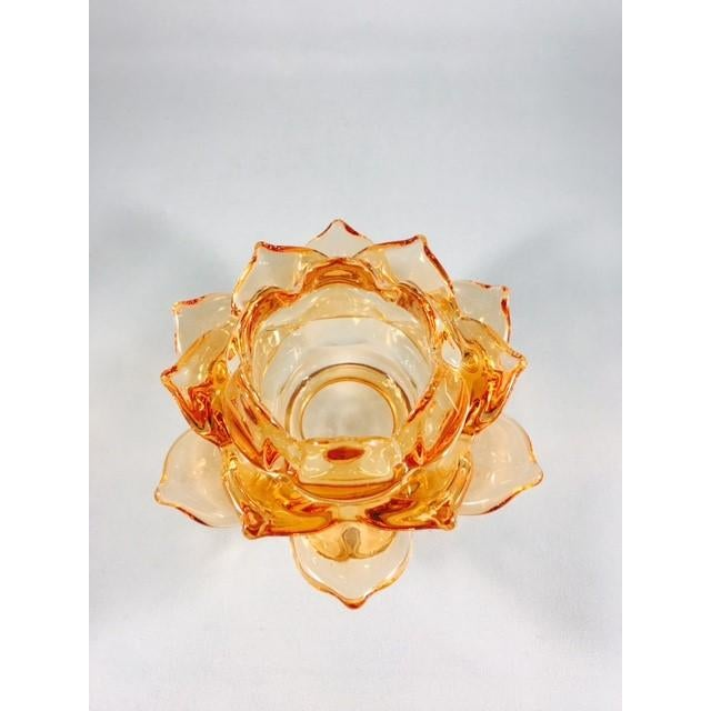 A&B Home Glass Flower Candle Holder - Image 3 of 4