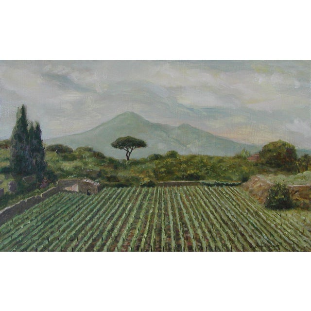 """Icyda Contemporary Framed Landscape """"View From Mount Vesuvius"""" For Sale In West Palm - Image 6 of 6"""