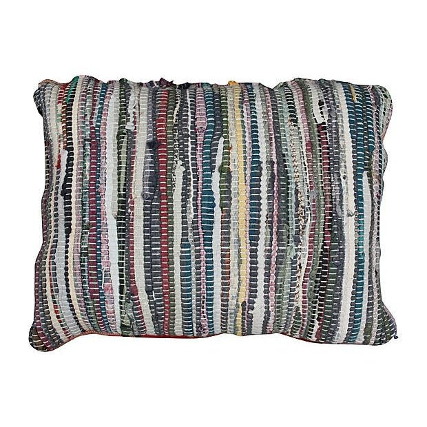 Moroccan boucherouite pillow sham handmade using a combination of wool and cotton in an assortment of vibrant colors....