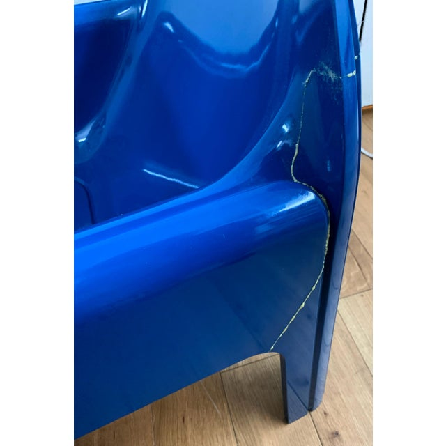 1970s Vintage Gae Aulenti for Kartell Italian Lounge Chairs- A Pair For Sale - Image 10 of 13