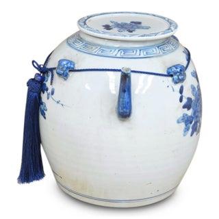 Blue & White Ceramic Pot Preview