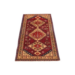 "Traditional Red Bakhtiari Runner 5'4'x9'11"" For Sale"