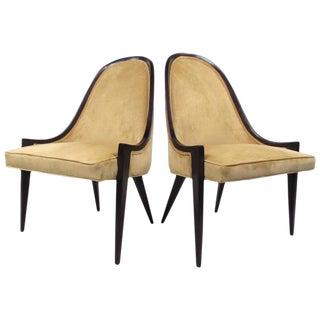 Harvey Probber Gondola Slipper Chairs For Sale
