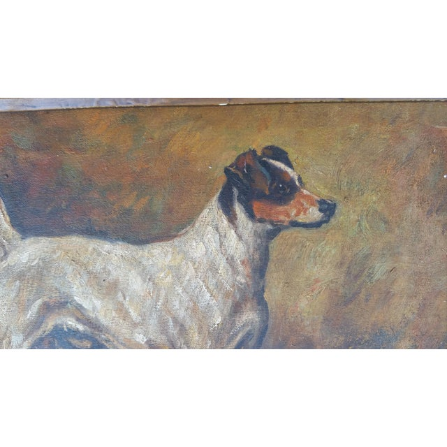 Terrier Dog Oil Painting - Image 4 of 6