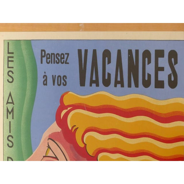 Art Deco French Art Deco Vacances Poster by Marsas For Sale - Image 3 of 10