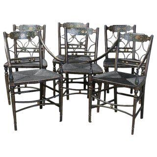 "Set of 6 Early 19th Century American ""Fancy"" Dining Chairs For Sale"