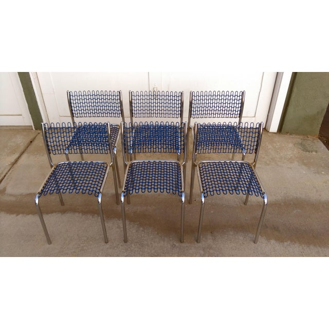 Chrome Thonet Sof-Tech Side Chairs by David Rowland - Set of 6 For Sale - Image 7 of 11