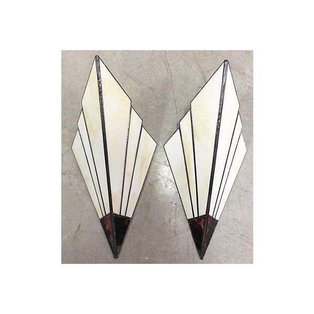 Art Deco Style Sconces - A Pair - Image 2 of 6