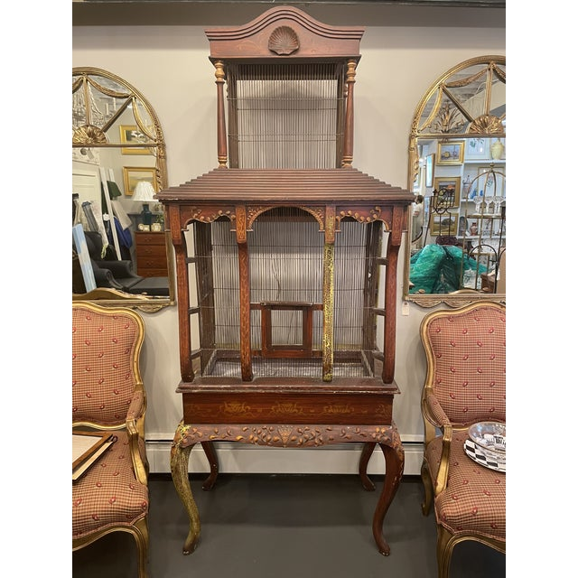 19th Century Bird Cage on French cabriole legs